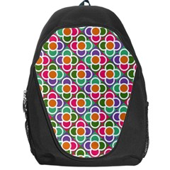 Modernist Floral Tiles Backpack Bag