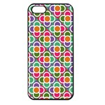 Modernist Floral Tiles Apple iPhone 5 Seamless Case (Black) Front