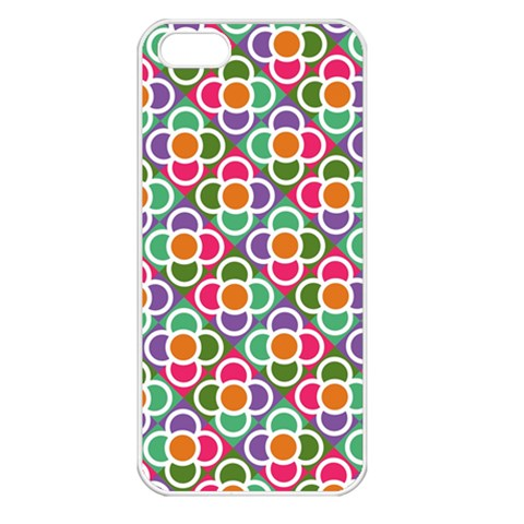 Modernist Floral Tiles Apple iPhone 5 Seamless Case (White)