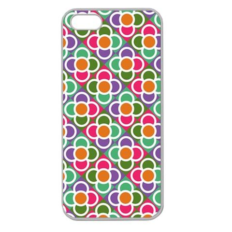 Modernist Floral Tiles Apple Seamless iPhone 5 Case (Clear)