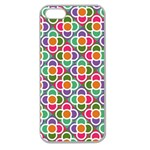Modernist Floral Tiles Apple Seamless iPhone 5 Case (Clear) Front