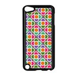 Modernist Floral Tiles Apple iPod Touch 5 Case (Black) Front