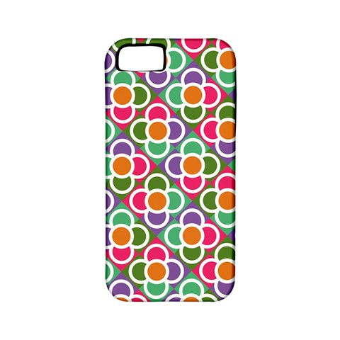 Modernist Floral Tiles Apple iPhone 5 Classic Hardshell Case (PC+Silicone)