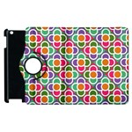 Modernist Floral Tiles Apple iPad 2 Flip 360 Case Front
