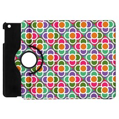 Modernist Floral Tiles Apple Ipad Mini Flip 360 Case