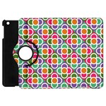 Modernist Floral Tiles Apple iPad Mini Flip 360 Case Front