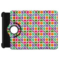 Modernist Floral Tiles Kindle Fire HD Flip 360 Case