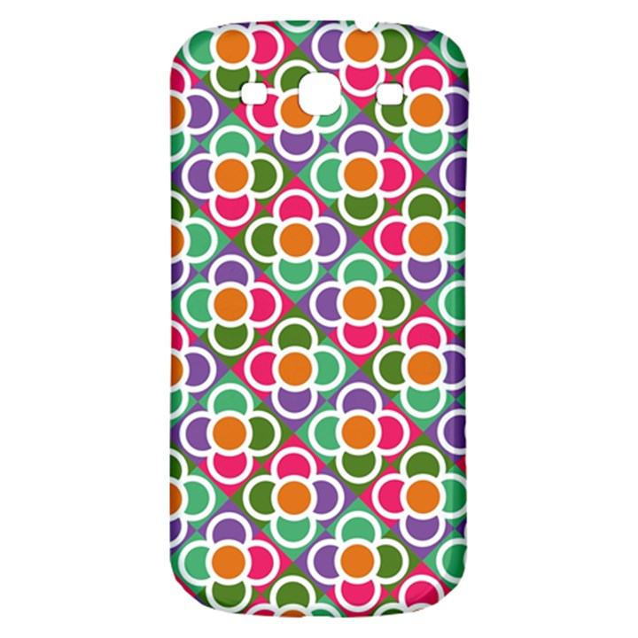 Modernist Floral Tiles Samsung Galaxy S3 S III Classic Hardshell Back Case
