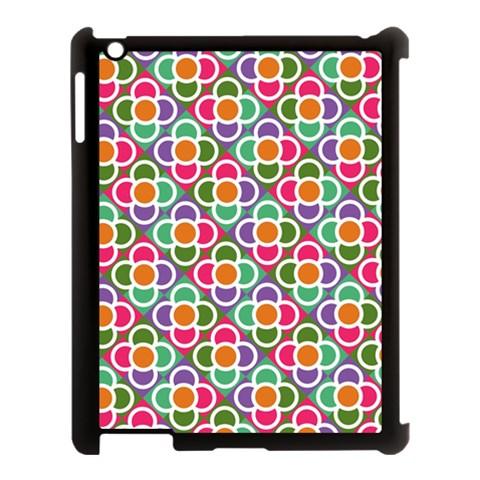 Modernist Floral Tiles Apple iPad 3/4 Case (Black)