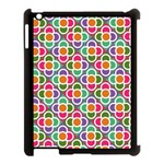 Modernist Floral Tiles Apple iPad 3/4 Case (Black) Front