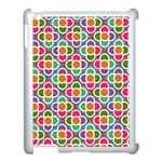 Modernist Floral Tiles Apple iPad 3/4 Case (White) Front