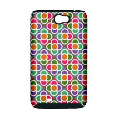Modernist Floral Tiles Samsung Galaxy Note 2 Hardshell Case (PC+Silicone)