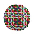 Modernist Floral Tiles Standard 15  Premium Round Cushions Back