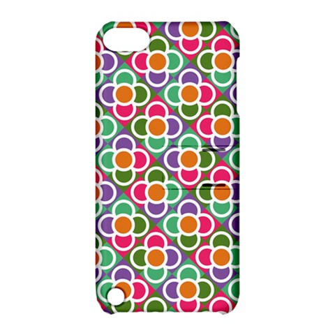 Modernist Floral Tiles Apple iPod Touch 5 Hardshell Case with Stand