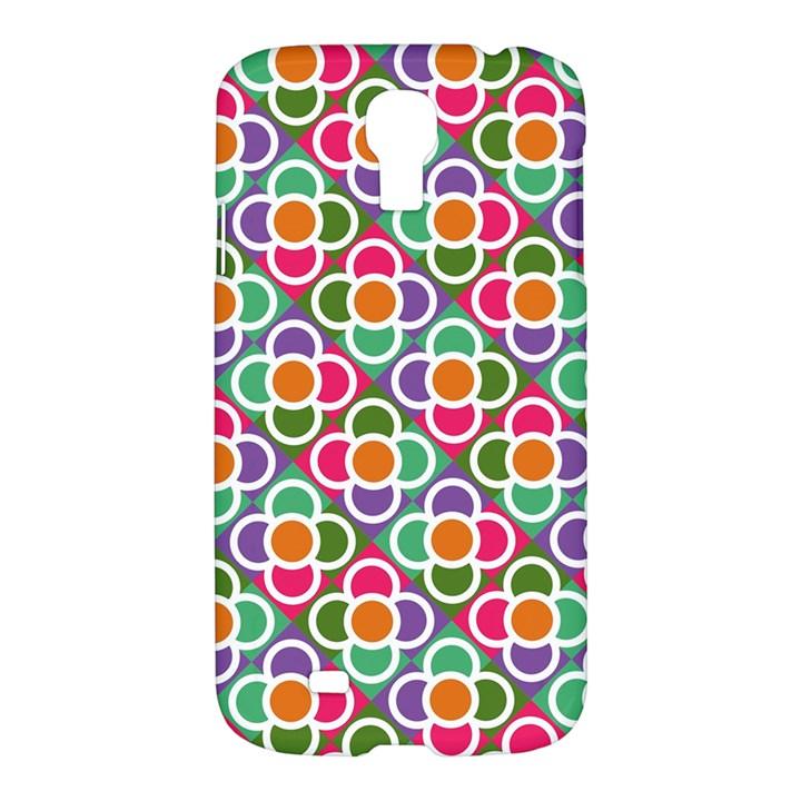 Modernist Floral Tiles Samsung Galaxy S4 I9500/I9505 Hardshell Case
