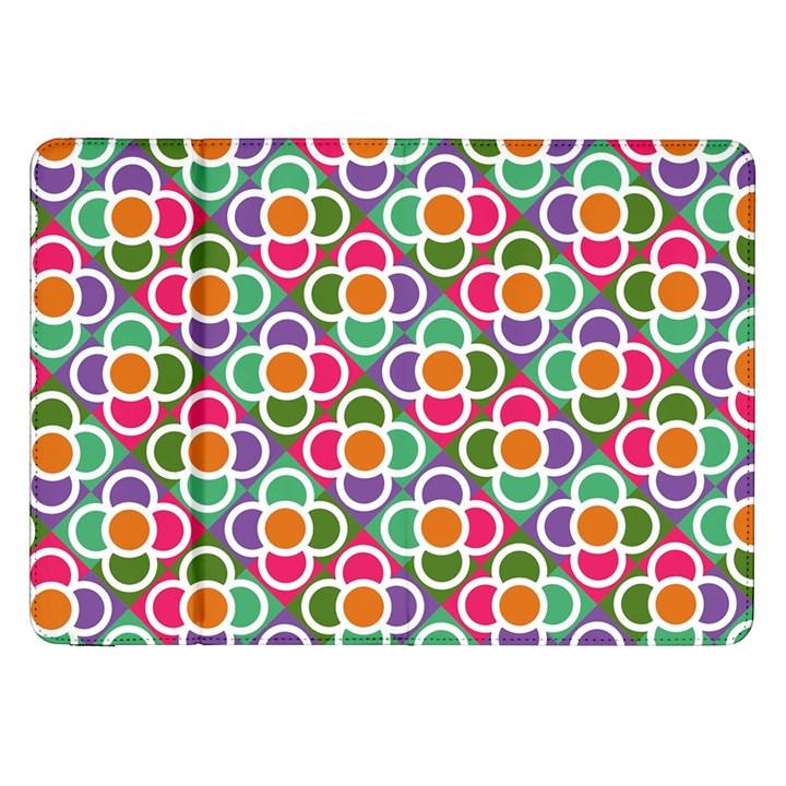 Modernist Floral Tiles Samsung Galaxy Tab 8.9  P7300 Flip Case