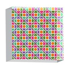 Modernist Floral Tiles 5  x 5  Acrylic Photo Blocks