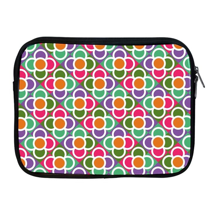 Modernist Floral Tiles Apple iPad 2/3/4 Zipper Cases