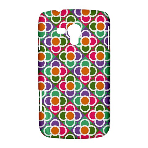 Modernist Floral Tiles Samsung Galaxy Duos I8262 Hardshell Case