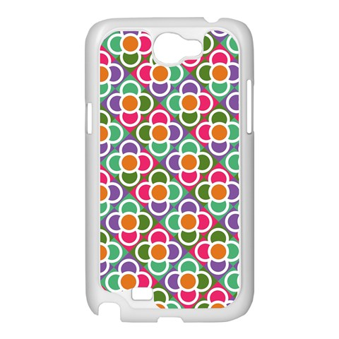 Modernist Floral Tiles Samsung Galaxy Note 2 Case (White)