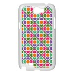 Modernist Floral Tiles Samsung Galaxy Note 2 Case (White) Front