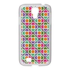 Modernist Floral Tiles Samsung GALAXY S4 I9500/ I9505 Case (White)