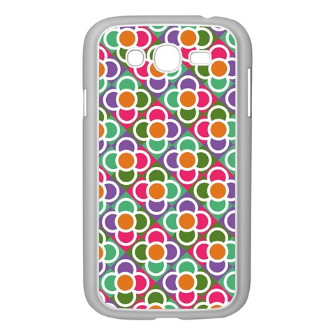 Modernist Floral Tiles Samsung Galaxy Grand DUOS I9082 Case (White)
