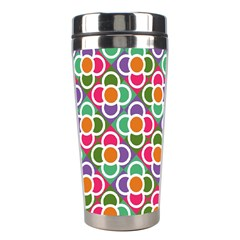Modernist Floral Tiles Stainless Steel Travel Tumblers