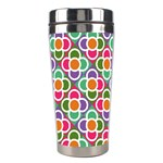 Modernist Floral Tiles Stainless Steel Travel Tumblers Left