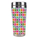 Modernist Floral Tiles Stainless Steel Travel Tumblers Center