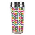 Modernist Floral Tiles Stainless Steel Travel Tumblers Right