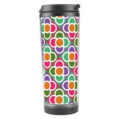 Modernist Floral Tiles Travel Tumbler