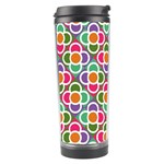 Modernist Floral Tiles Travel Tumbler Center