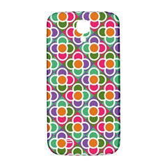 Modernist Floral Tiles Samsung Galaxy S4 I9500/i9505  Hardshell Back Case