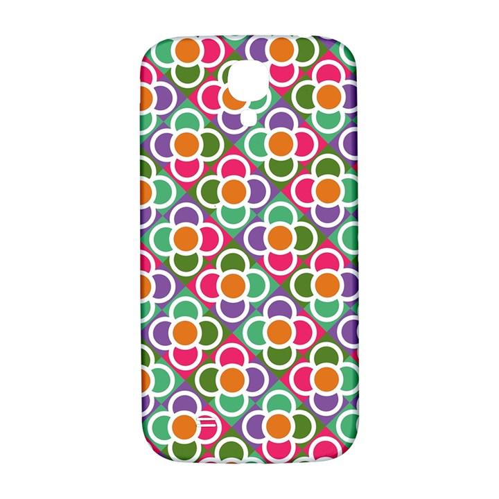 Modernist Floral Tiles Samsung Galaxy S4 I9500/I9505  Hardshell Back Case