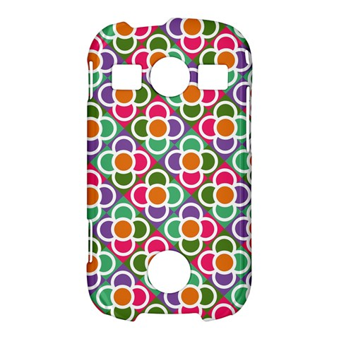 Modernist Floral Tiles Samsung Galaxy S7710 Xcover 2 Hardshell Case