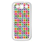 Modernist Floral Tiles Samsung Galaxy S3 Back Case (White) Front