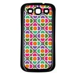 Modernist Floral Tiles Samsung Galaxy S3 Back Case (Black) Front