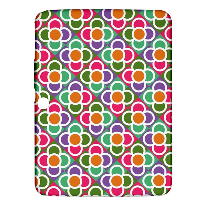 Modernist Floral Tiles Samsung Galaxy Tab 3 (10.1 ) P5200 Hardshell Case