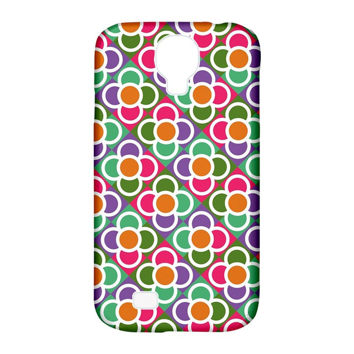 Modernist Floral Tiles Samsung Galaxy S4 Classic Hardshell Case (PC+Silicone)