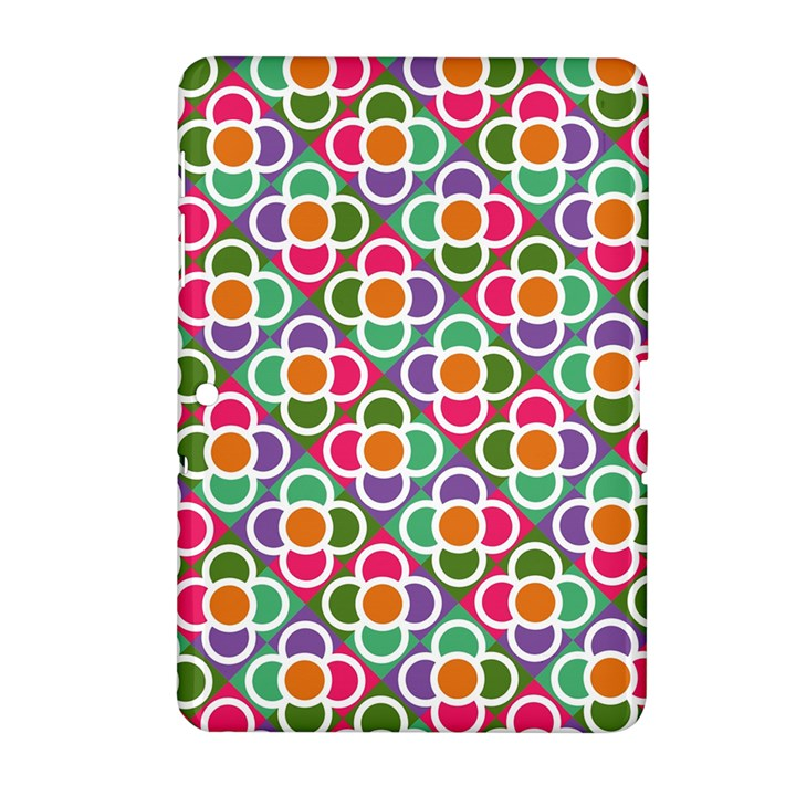 Modernist Floral Tiles Samsung Galaxy Tab 2 (10.1 ) P5100 Hardshell Case