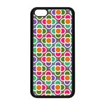 Modernist Floral Tiles Apple iPhone 5C Seamless Case (Black) Front