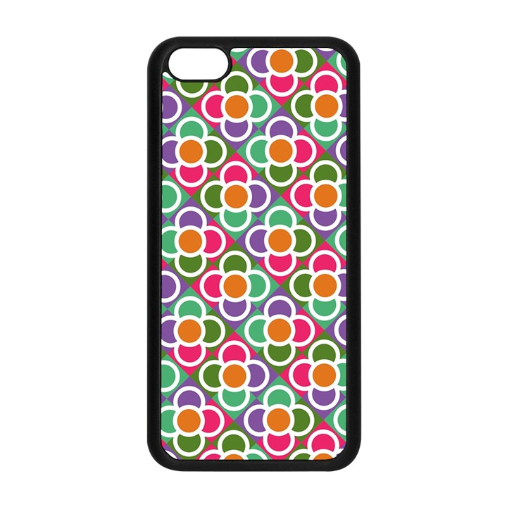 Modernist Floral Tiles Apple iPhone 5C Seamless Case (Black)
