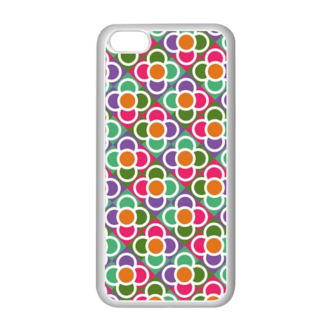 Modernist Floral Tiles Apple iPhone 5C Seamless Case (White)