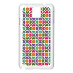 Modernist Floral Tiles Samsung Galaxy Note 3 N9005 Case (White) Front