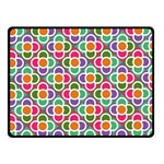 Modernist Floral Tiles Double Sided Fleece Blanket (Small)  50 x40 Blanket Front