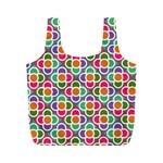 Modernist Floral Tiles Full Print Recycle Bags (M)  Back