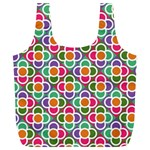 Modernist Floral Tiles Full Print Recycle Bags (L)  Back