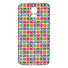 Modernist Floral Tiles Samsung Galaxy S5 Back Case (White)
