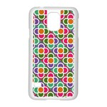 Modernist Floral Tiles Samsung Galaxy S5 Case (White) Front
